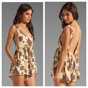 [One Teaspoon] Yellow Paisley Romper - Size Small